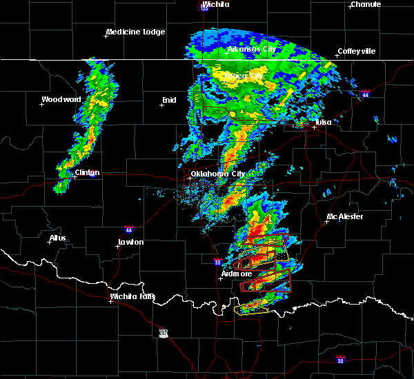 Radar Image for Severe Thunderstorms near Stonewall, OK at 4/22/2020 5:07 PM CDT