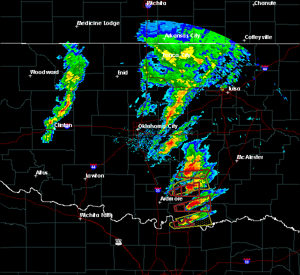 Radar Image for Severe Thunderstorms near Stonewall, OK at 4/22/2020 5:17 PM CDT