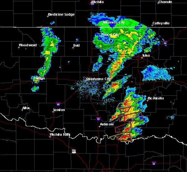 Radar Image for Severe Thunderstorms near Allen, OK at 4/22/2020 5:38 PM CDT