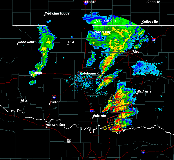 Radar Image for Severe Thunderstorms near Durant, OK at 4/22/2020 5:38 PM CDT