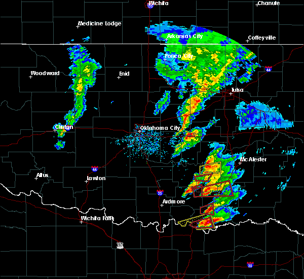 Radar Image for Severe Thunderstorms near Stonewall, OK at 4/22/2020 5:41 PM CDT