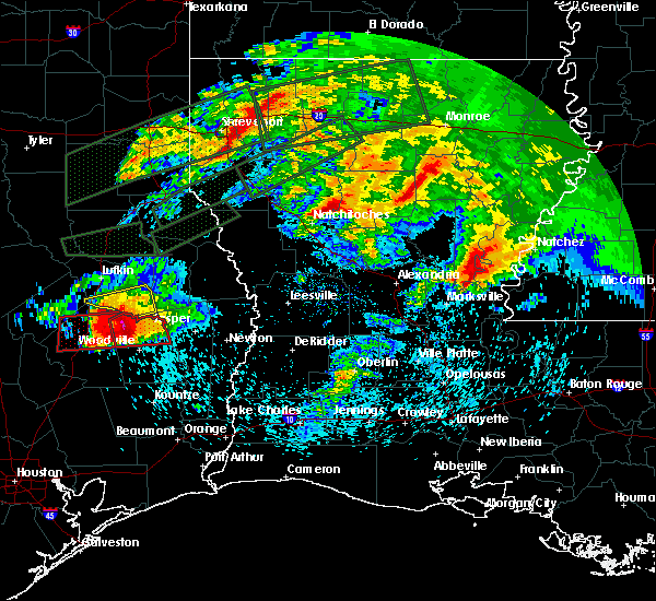 Radar Image for Severe Thunderstorms near Pleasant Hill, TX at 4/22/2020 6:20 PM CDT