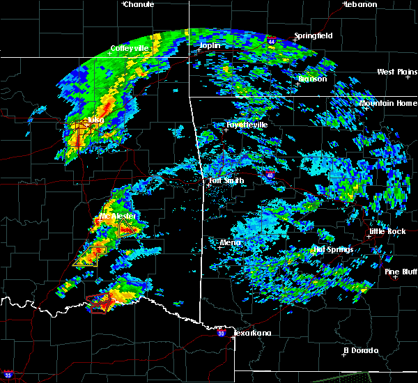 Radar Image for Severe Thunderstorms near Powderly, TX at 4/22/2020 6:43 PM CDT
