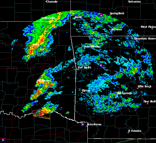 Radar Image for Severe Thunderstorms near Sawyer, OK at 4/22/2020 6:48 PM CDT