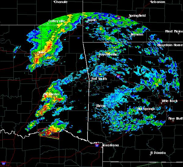 Radar Image for Severe Thunderstorms near Swink, OK at 4/22/2020 6:48 PM CDT