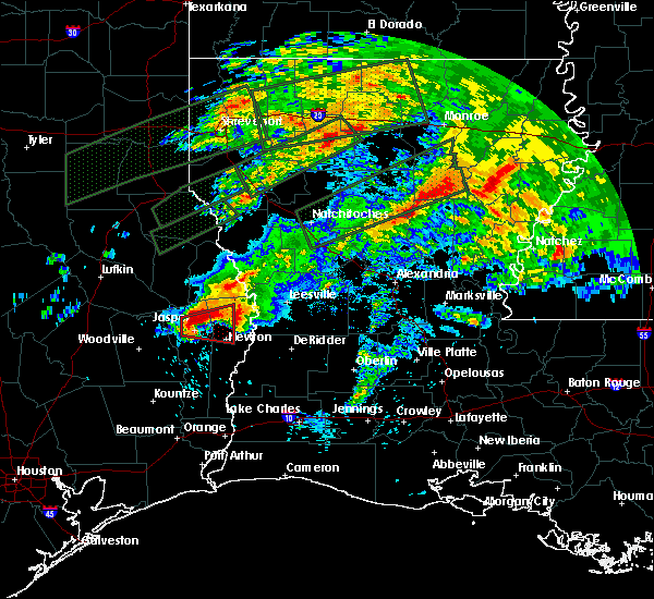 Radar Image for Severe Thunderstorms near Newton, TX at 4/22/2020 7:20 PM CDT