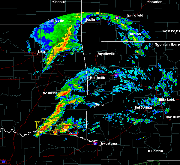 Radar Image for Severe Thunderstorms near Sawyer, OK at 4/22/2020 7:30 PM CDT