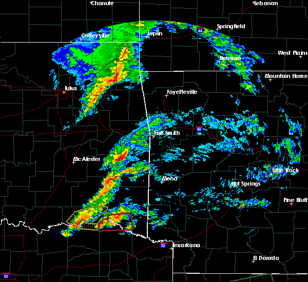Radar Image for Severe Thunderstorms near Red Oak, OK at 4/22/2020 7:41 PM CDT