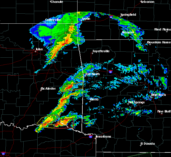 Radar Image for Severe Thunderstorms near Sawyer, OK at 4/22/2020 7:45 PM CDT