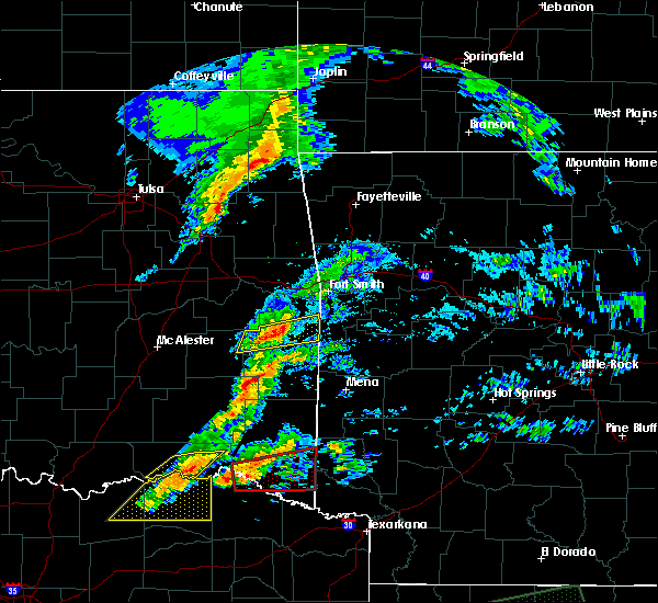 Radar Image for Severe Thunderstorms near Sawyer, OK at 4/22/2020 7:57 PM CDT