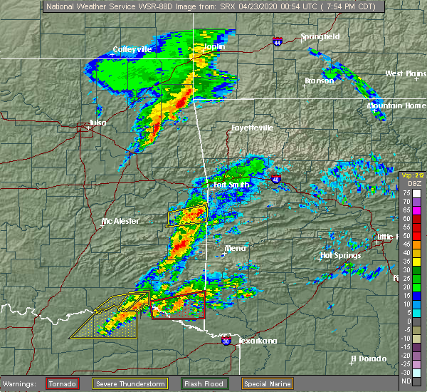 Radar Image for Severe Thunderstorms near Powderly, TX at 4/22/2020 8:06 PM CDT