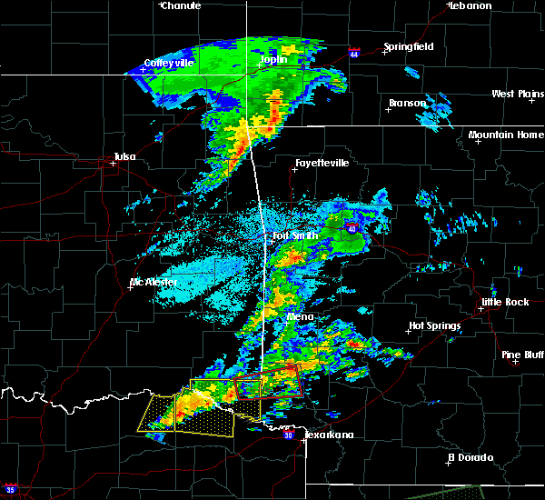 Radar Image for Severe Thunderstorms near Powderly, TX at 4/22/2020 8:42 PM CDT