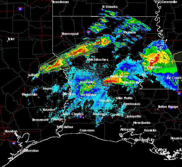 Radar Image for Severe Thunderstorms near Pineville, LA at 4/22/2020 9:31 PM CDT