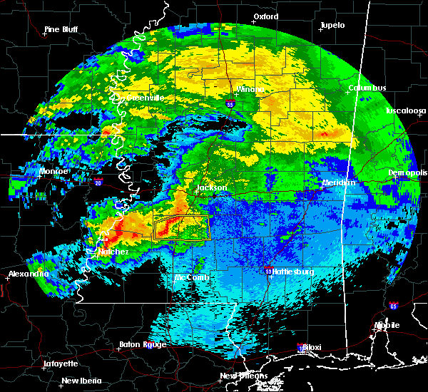 Radar Image for Severe Thunderstorms near Crystal Springs, MS at 4/22/2020 9:36 PM CDT