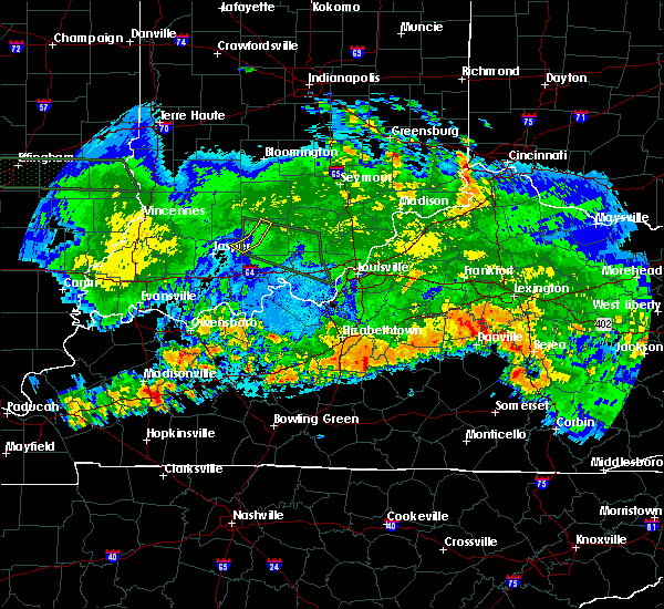 Radar Image for Severe Thunderstorms near Greensburg, KY at 6/26/2015 2:38 AM EDT