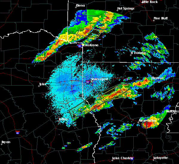 Radar Image for Severe Thunderstorms near Mineral Springs, AR at 4/22/2020 9:52 PM CDT