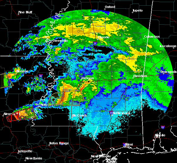 Radar Image for Severe Thunderstorms near Crystal Springs, MS at 4/22/2020 10:01 PM CDT