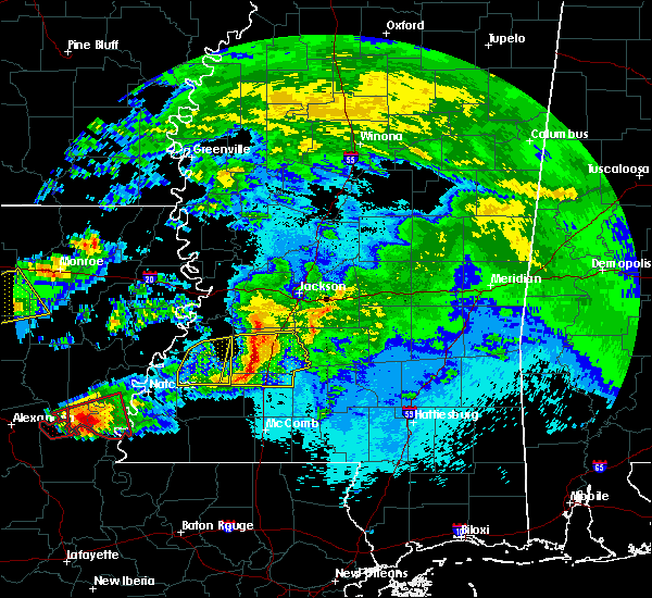 Radar Image for Severe Thunderstorms near Crystal Springs, MS at 4/22/2020 10:09 PM CDT