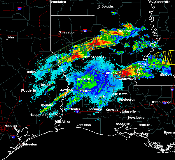 Radar Image for Severe Thunderstorms near Calvin, LA at 4/22/2020 10:16 PM CDT