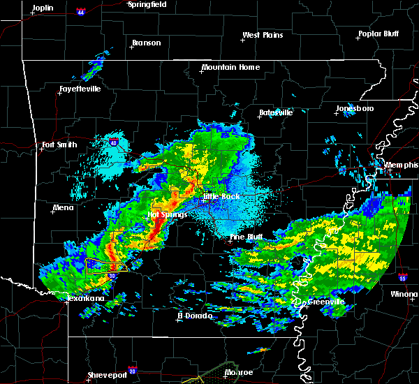 Radar Image for Severe Thunderstorms near Sparkman, AR at 4/22/2020 10:30 PM CDT