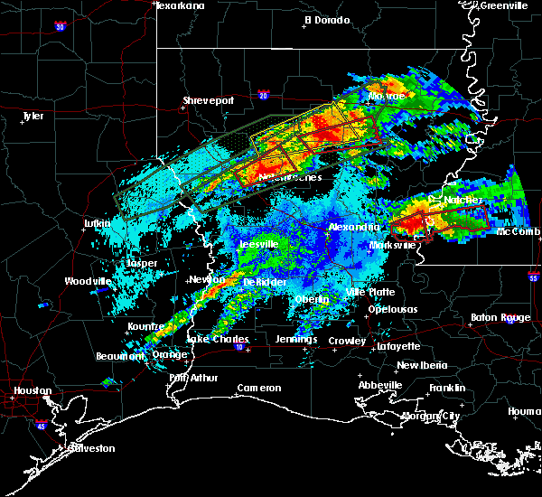 Radar Image for Severe Thunderstorms near Calvin, LA at 4/22/2020 10:32 PM CDT