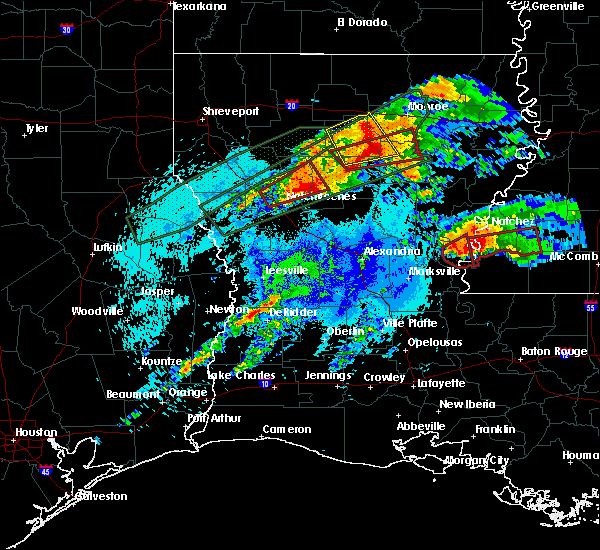 Radar Image for Severe Thunderstorms near Calvin, LA at 4/22/2020 10:41 PM CDT