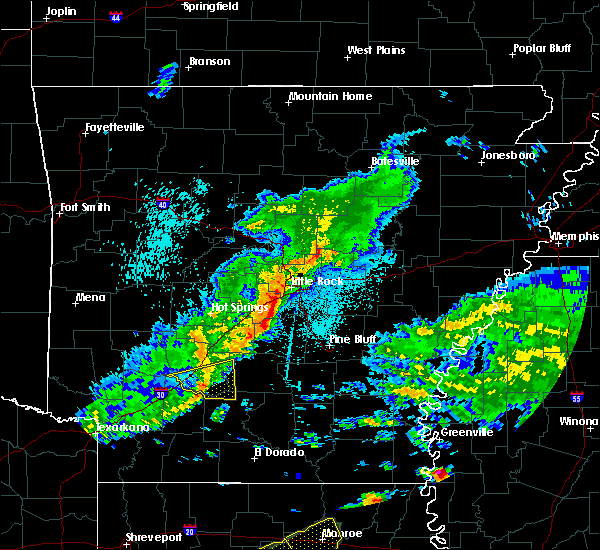 Radar Image for Severe Thunderstorms near Sparkman, AR at 4/22/2020 10:50 PM CDT