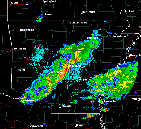 Radar Image for Severe Thunderstorms near Sparkman, AR at 4/22/2020 10:55 PM CDT