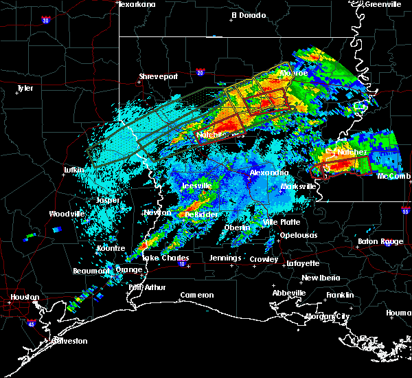 Radar Image for Severe Thunderstorms near Calvin, LA at 4/22/2020 10:57 PM CDT