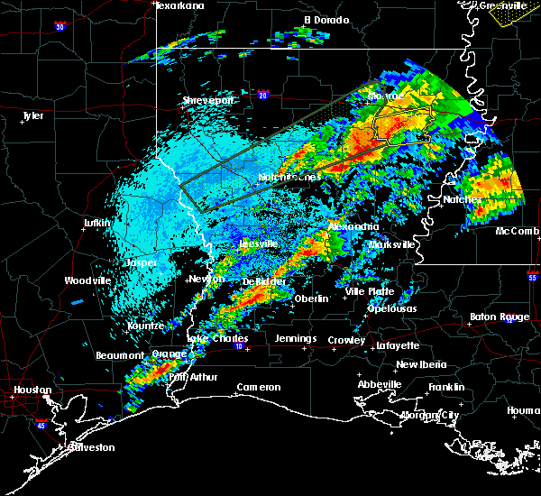 Radar Image for Severe Thunderstorms near Urania, LA at 4/22/2020 11:36 PM CDT