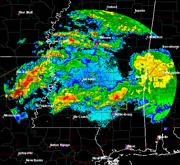 Radar Image for Severe Thunderstorms near Schlater, MS at 4/22/2020 11:52 PM CDT