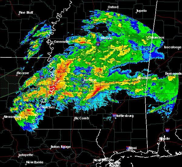Radar Image for Severe Thunderstorms near Bay Springs, MS at 4/23/2020 12:46 AM CDT