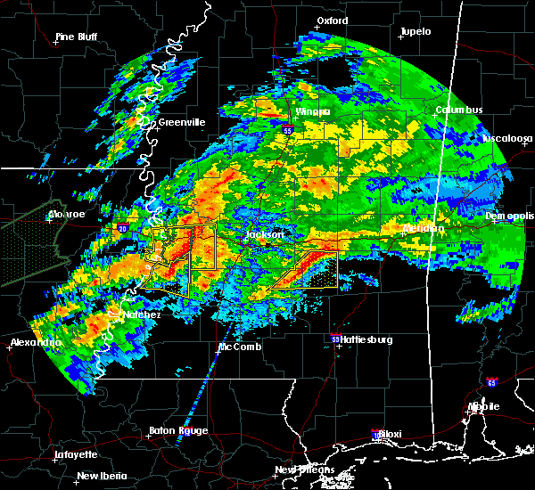 Radar Image for Severe Thunderstorms near Bay Springs, MS at 4/23/2020 1:03 AM CDT