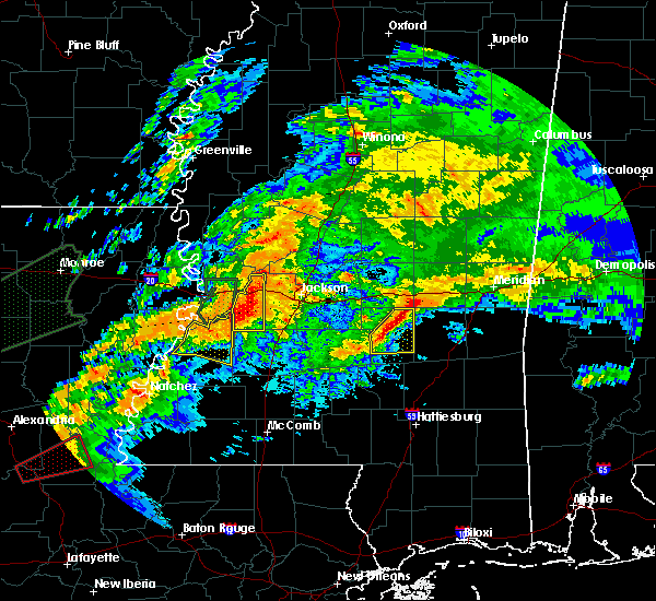 Radar Image for Severe Thunderstorms near Bay Springs, MS at 4/23/2020 1:16 AM CDT
