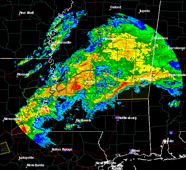 Radar Image for Severe Thunderstorms near Bay Springs, MS at 4/23/2020 1:28 AM CDT