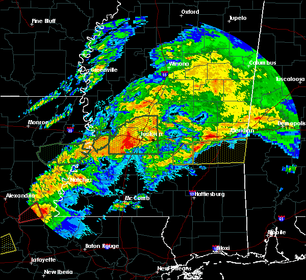 Radar Image for Severe Thunderstorms near Crystal Springs, MS at 4/23/2020 1:36 AM CDT