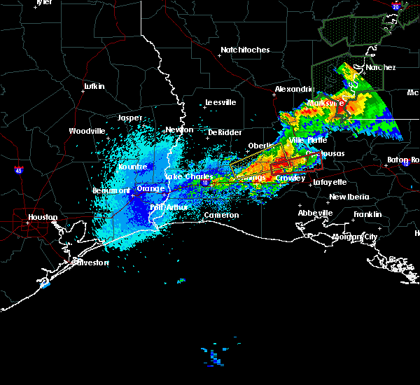 Radar Image for Severe Thunderstorms near Branch, LA at 4/23/2020 1:55 AM CDT