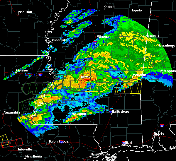 Radar Image for Severe Thunderstorms near Robinhood, MS at 4/23/2020 2:05 AM CDT