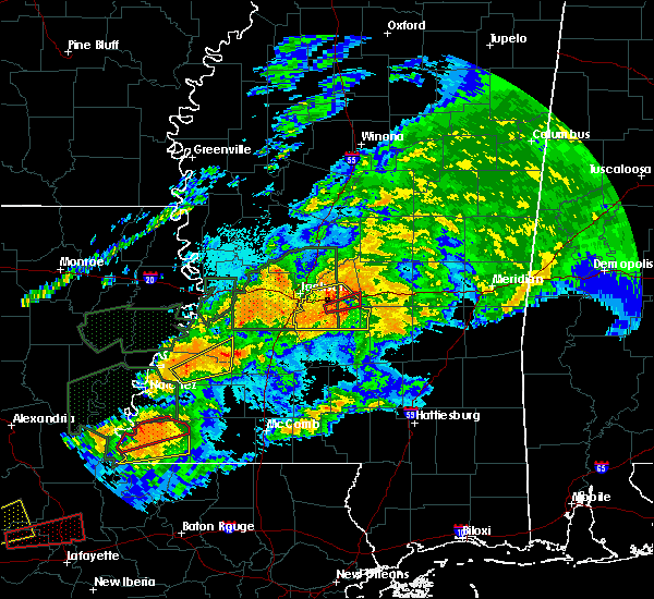 Radar Image for Severe Thunderstorms near Robinhood, MS at 4/23/2020 2:15 AM CDT
