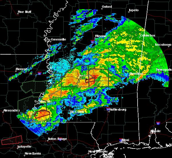 Radar Image for Severe Thunderstorms near Robinhood, MS at 4/23/2020 2:25 AM CDT