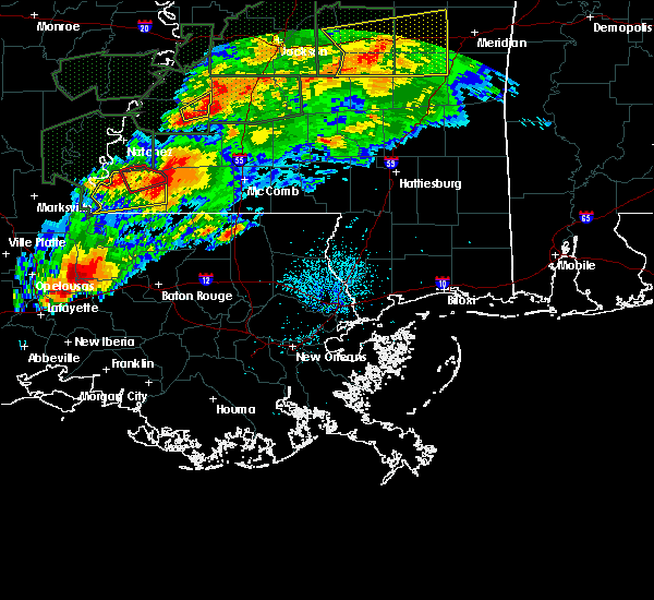 Radar Image for Severe Thunderstorms near Erwinville, LA at 4/23/2020 2:43 AM CDT