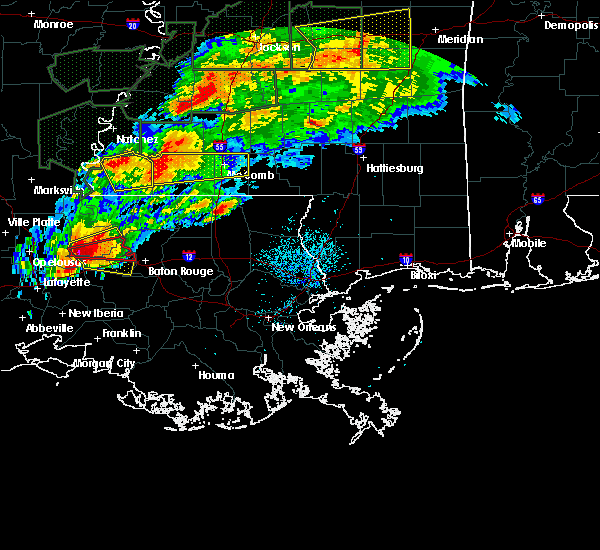 Radar Image for Severe Thunderstorms near Erwinville, LA at 4/23/2020 2:48 AM CDT