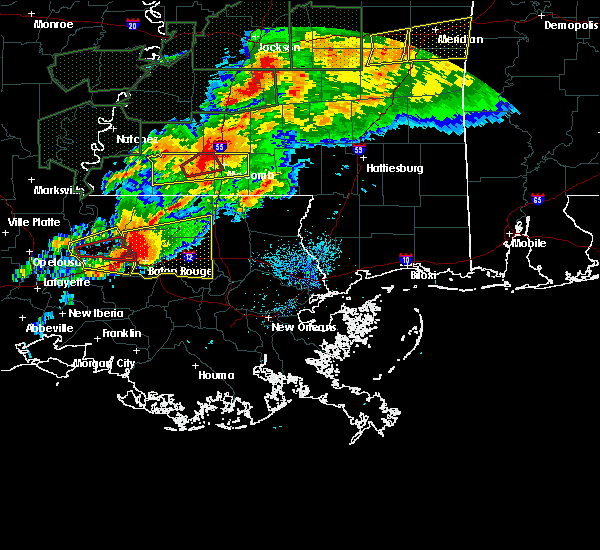 Radar Image for Severe Thunderstorms near Erwinville, LA at 4/23/2020 3:21 AM CDT