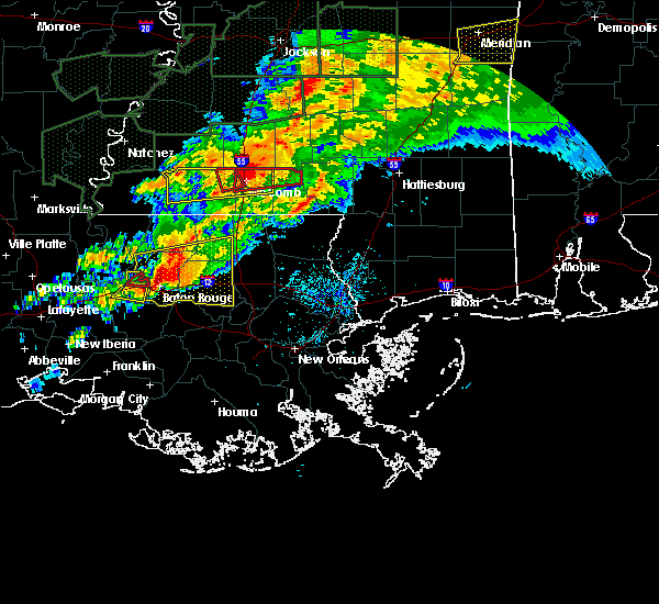Radar Image for Severe Thunderstorms near Baton Rouge, LA at 4/23/2020 3:26 AM CDT