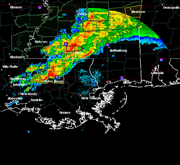 Radar Image for Severe Thunderstorms near Erwinville, LA at 4/23/2020 3:38 AM CDT