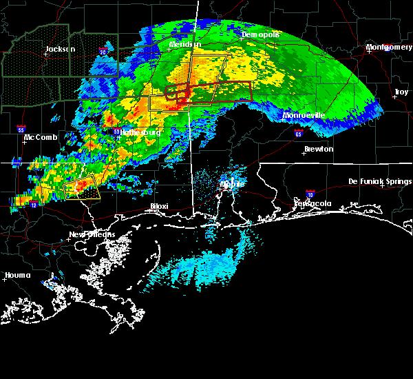 Radar Image for Severe Thunderstorms near Fulton, AL at 4/23/2020 4:58 AM CDT