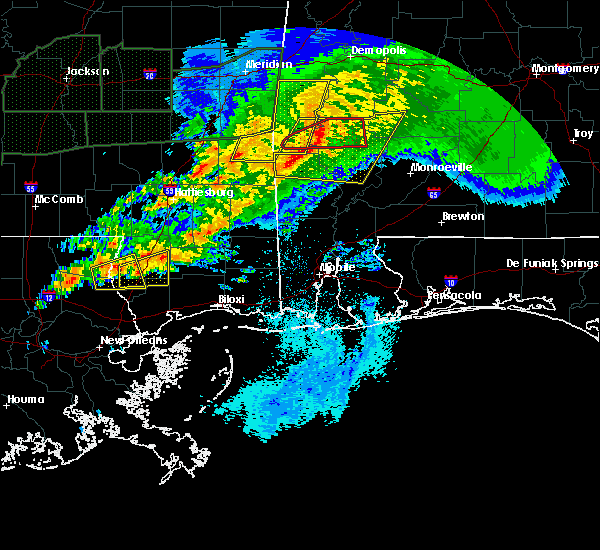 Radar Image for Severe Thunderstorms near Silas, AL at 4/23/2020 5:22 AM CDT
