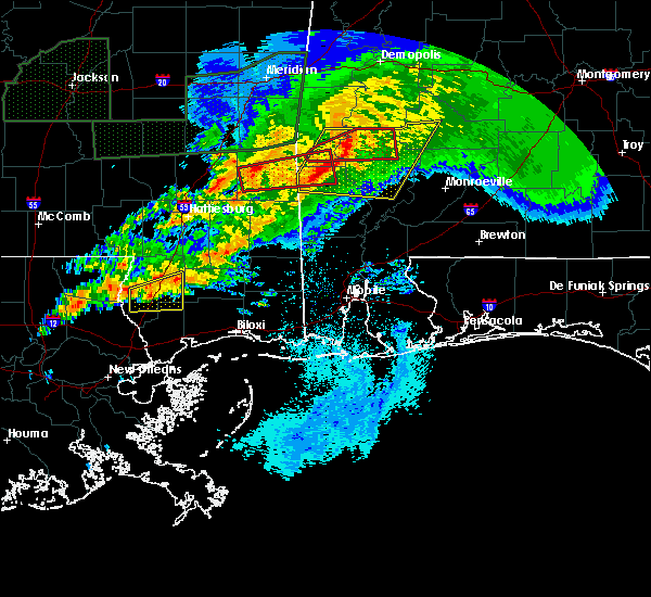 Radar Image for Severe Thunderstorms near Fulton, AL at 4/23/2020 5:26 AM CDT