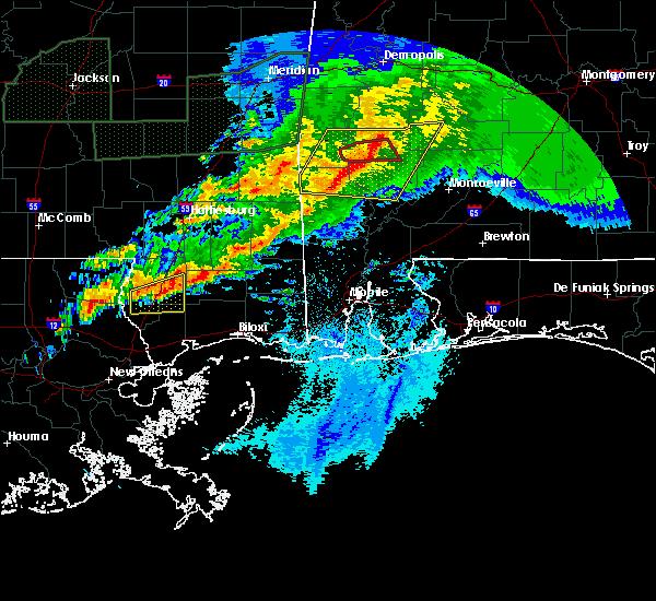 Radar Image for Severe Thunderstorms near Fulton, AL at 4/23/2020 5:36 AM CDT