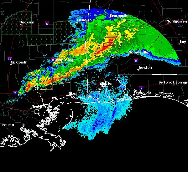 Radar Image for Severe Thunderstorms near Fulton, AL at 4/23/2020 5:42 AM CDT